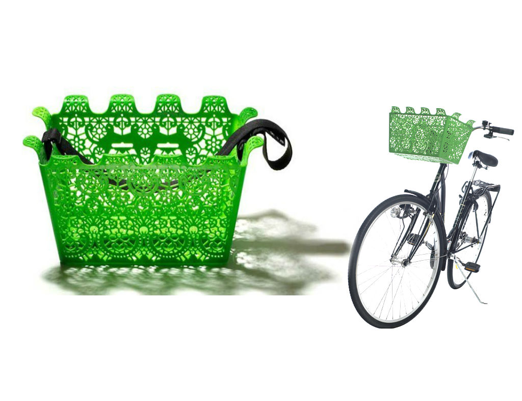 Carrie Bicycle Basket Green